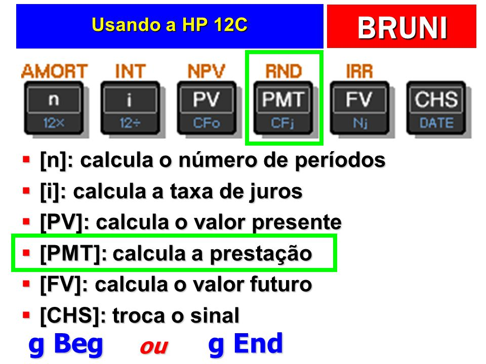 g Beg g End [n]: calcula o número de períodos